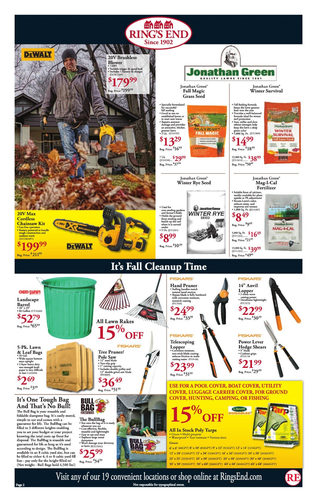ring s end fall sales flyer