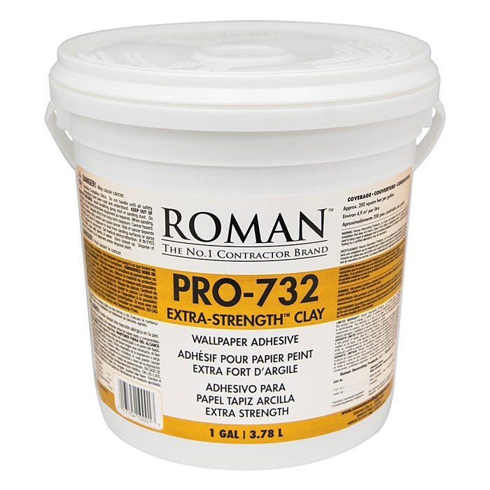 Roman PRO 732 Extra Strength Wallcovering Adhesive, Gallon
