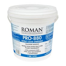 Roman PRO-880 Ultra Clear Universal Wallcovering Adhesive, Gallon