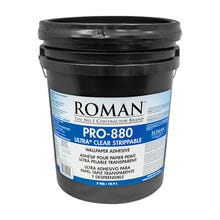 Roman PRO-880 Ultra Clear Universal Wallcovering Adhesive, 5 Gallon