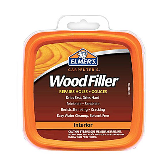ELMER'S CARPENTER'S WOOD FILLER STAINABLE INT/EXT - 1/2 PINT