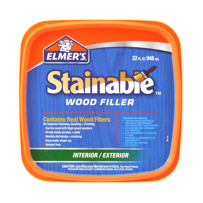 ELMER'S CARPENTER'S WOOD FILLER STAINABLE INT/EXT - QUART