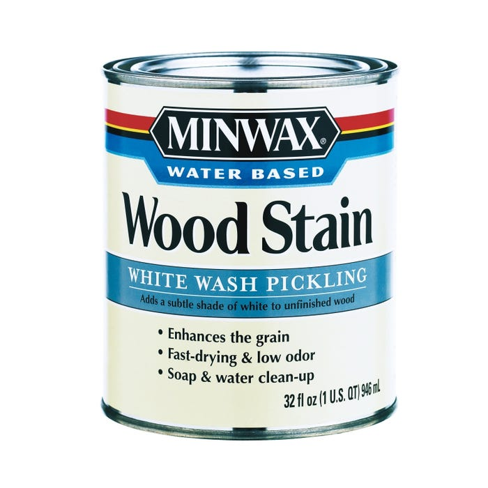 WHITE WASH PICKLING STAIN WATER-BASED Quart