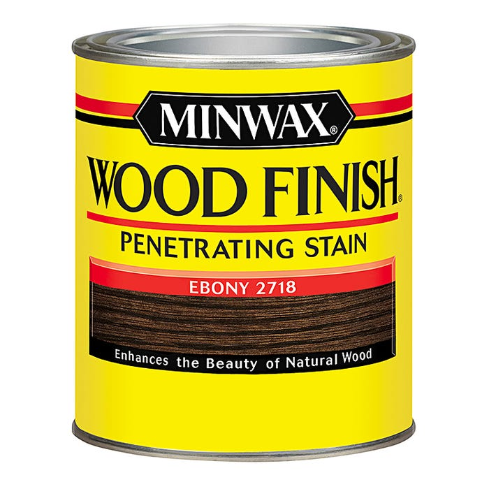 Minwax Wood Finish, Ebony #2718, Quart
