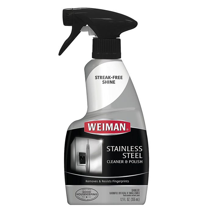 Weiman Stainless Steel Cleaner & Polish, Spray, 12 oz.