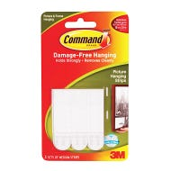Command Adhesive Picture Hanging Tabs, Medium, 3 Sets / Package
