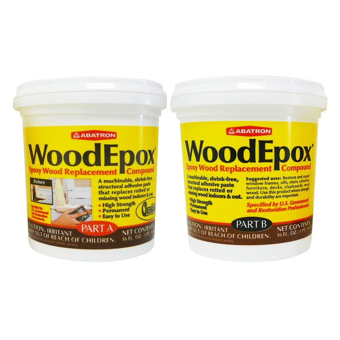 WoodEpox 1 pint each (16 ounces each Part A & B)