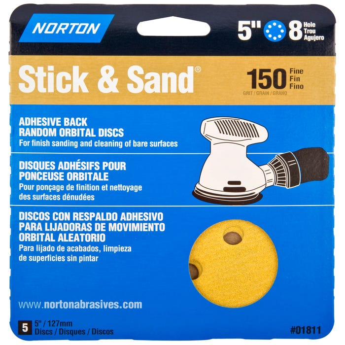 Norton Stick & Stand, 5 Pack Sanding Disks, 5
