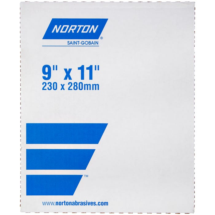 Norton ProSand, A259PS A/0 Paper - Open Coat Sanding Sheets, 100 Pack, 9