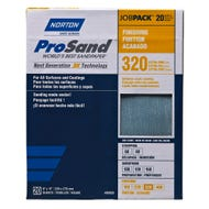 "Norton ProSand, 20 Pack Sanding Sheets, 9"" x 11"", 320 Grit, Extra Fine"