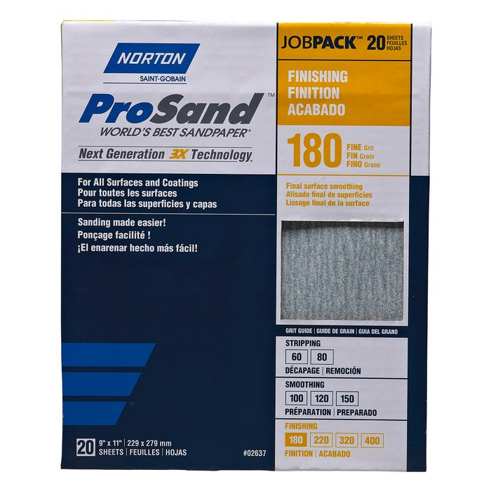 Norton ProSand, 20 Pack Sanding Sheets, 9