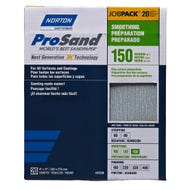 "Norton ProSand, 20 Pack Sanding Sheets, 9"" x 11"", 120 Grit, Medium"