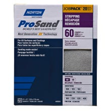 "Norton ProSand, 20 Pack Sanding Sheets, 9"" x 11"", 60 Grit, Coarse"