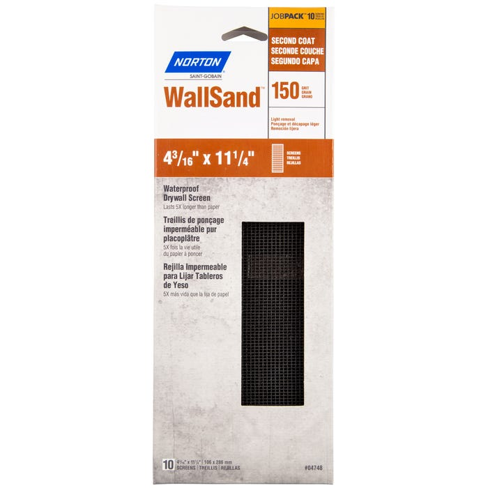 Norton WallSand, Waterproof Drywall Screens, 4-3/16