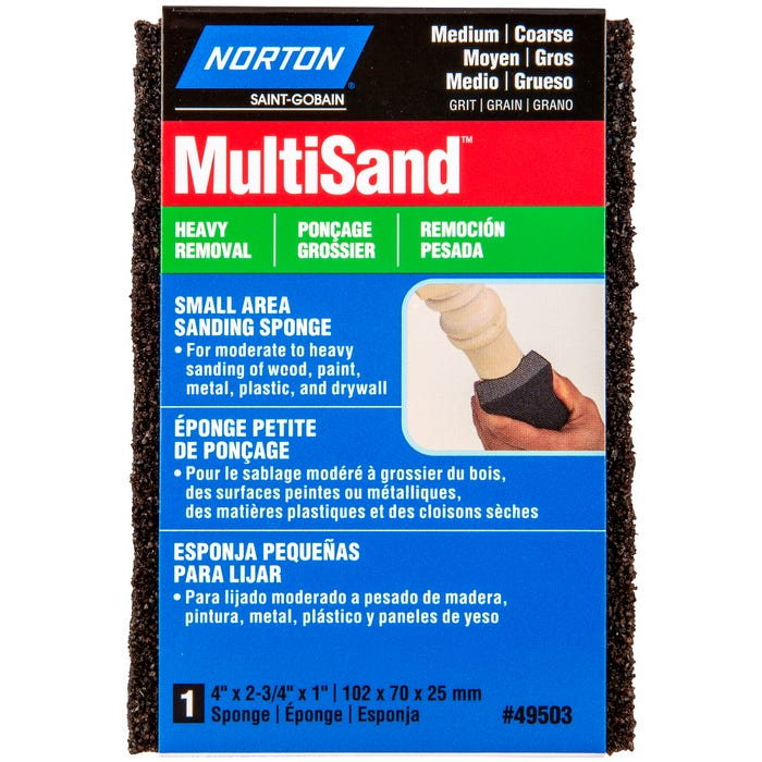 Norton MultiSand, Small Area Sanding Sponge, 4