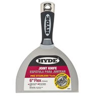 """Hyde 6"""" FLEXIBLE PRO STAINLESS JOINT KNIFE (06877 CASE CODE, 06870)"""