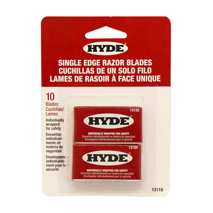 Hyde SINGLE EDGE BLADES, 10 PACK