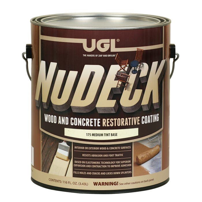 NuDECK MED BASE, Wood and Concrete Restorative Coating, 1 Gallon