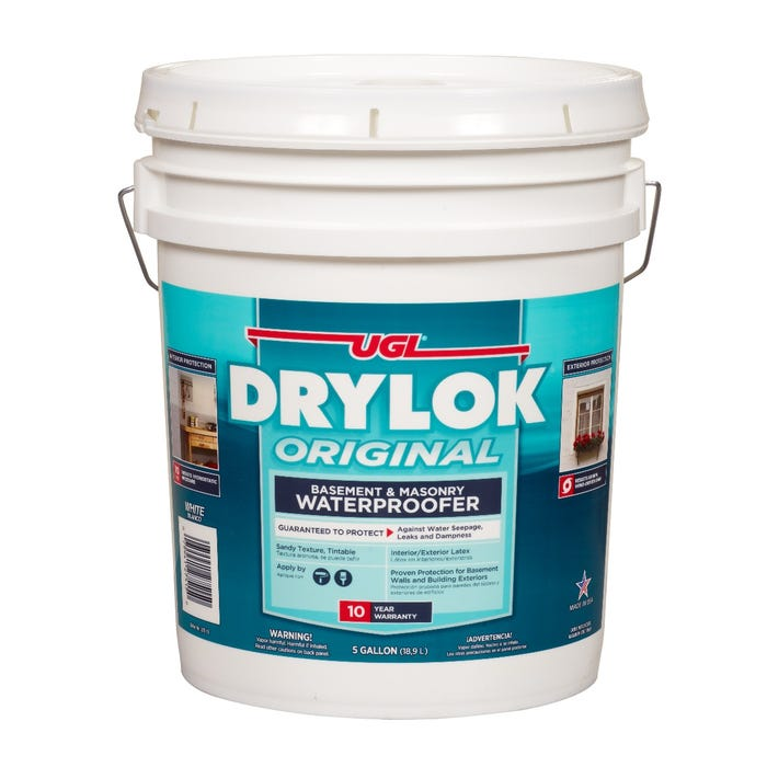 DRYLOK Latex Based Masonry Waterproofer, White, 5 Gallon