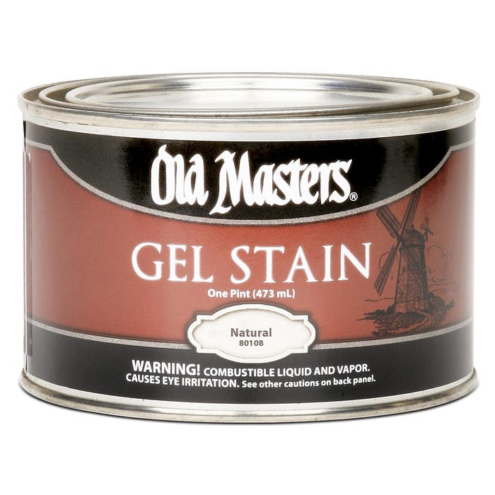 OLD MASTERS GEL STAIN,Natural, PINT , 80108