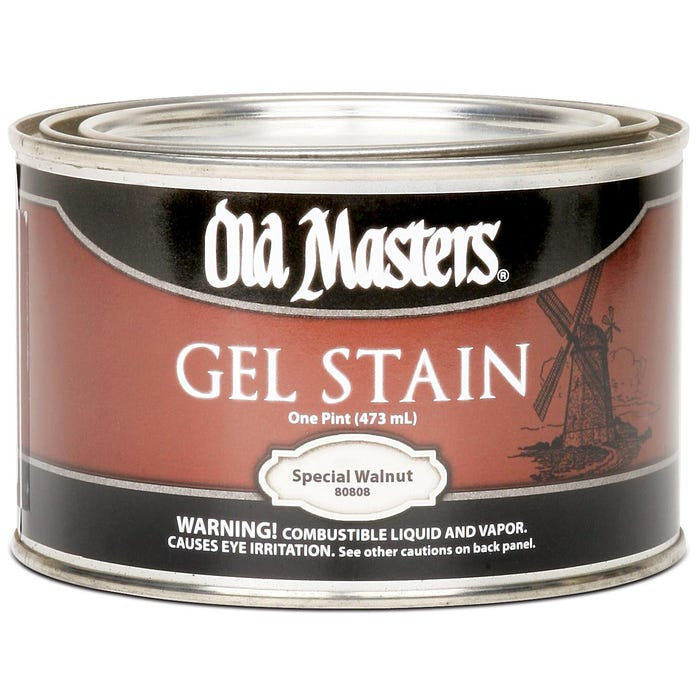 OLD MASTERS GEL STAIN,Special Walnut , PINT , 80808