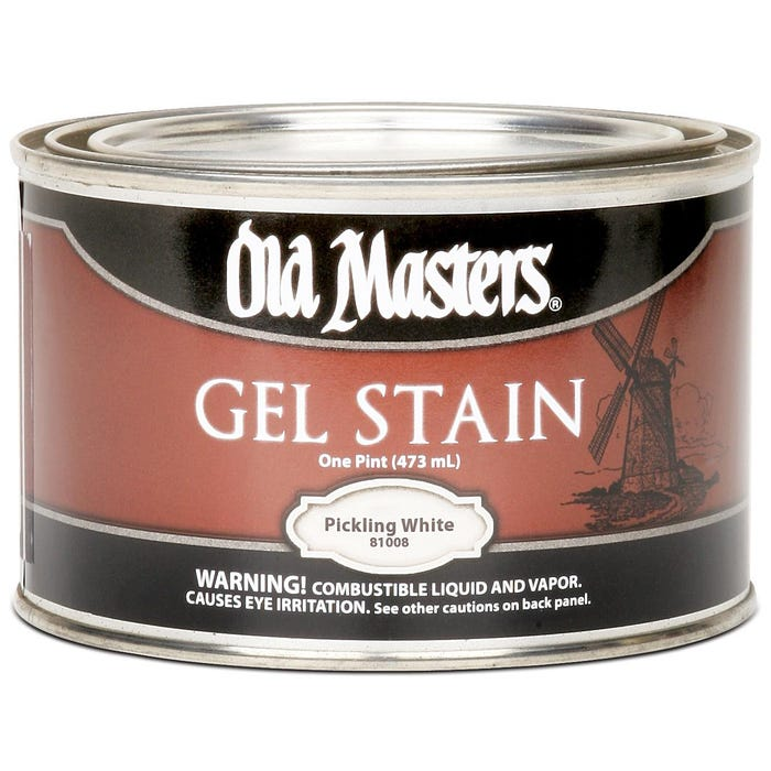 OLD MASTERS GEL STAIN,Pickling White