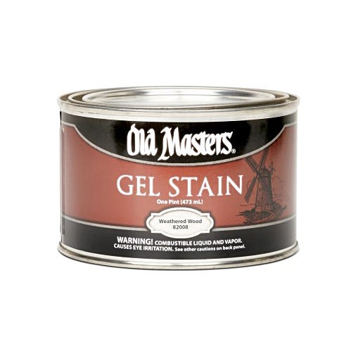 OLD MASTERS GEL STAIN,Weathered Wood, PINT, 82008