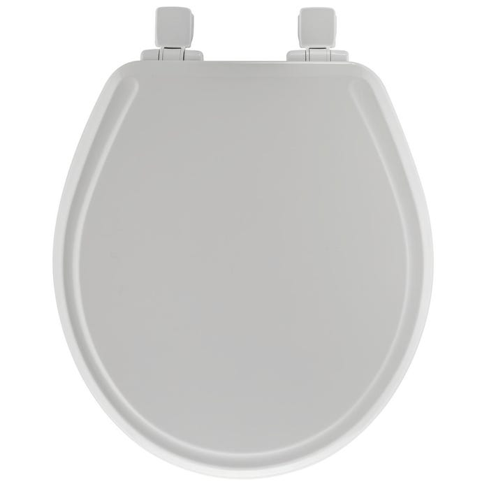 Image 2 of Bemis 48SLOWA-000/48E2 Toilet Seat, Round, Wood, White