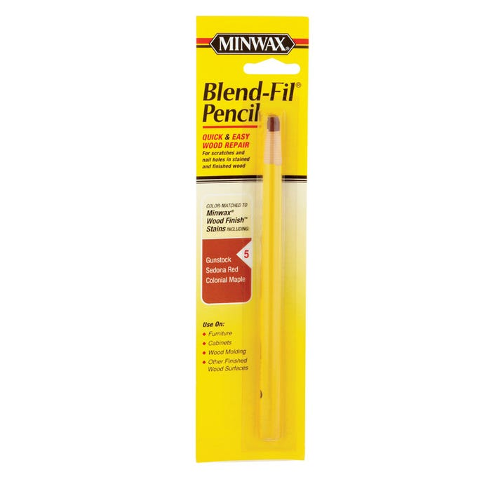 Minwax Blend-Fil Pencil, #5 for Wood Finish: Gunstock, Sedona Red & Colonial Maple, Each