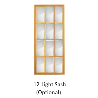 CDC Easy-Change Glass Sash, Insert Only, for 12-Light Wood Combination Door, Fits 30 in. x 81 in.