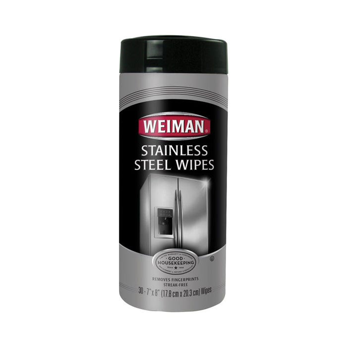 30CT WEIMAN STAINLESS STEEL WIPES