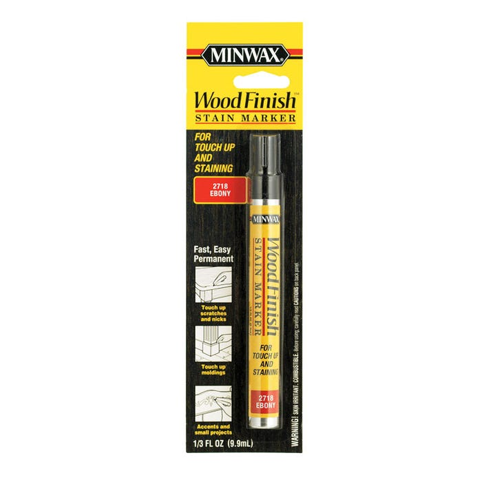 Minwax Wood Finish Stain Marker - Ebony, 1/3 fl. oz.