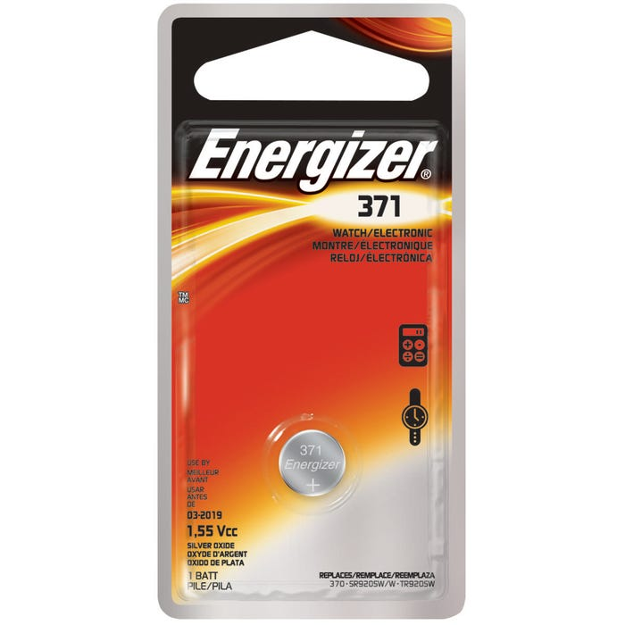 Image 2 of Energizer 371BPZ Coin Cell Battery, 371 Battery, Silver Oxide, 1.5 V Battery
