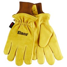 Image 1 of Heatkeep 94HK-M Protective Gloves, M, Pigskin Leather, Gold