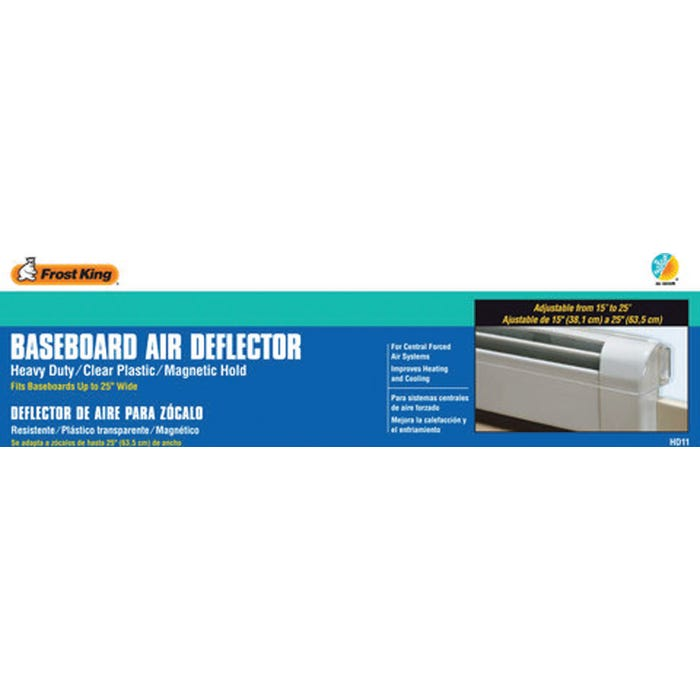 Image 2 of Frost King HD7 Heat and Air Deflector, 10 to 14 in L, 12-1/2 to 16 in W, Plastic, Clear