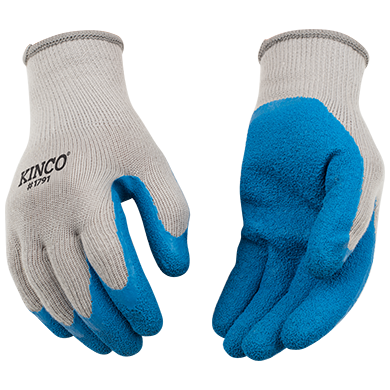 Kinco Poly-Cotton Knit Shell w/Latex Palm Gloves