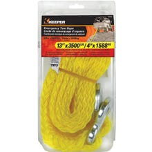 Image 2 of KEEPER 02855 Tow Rope, 5/8 in Dia, 13 ft L, Polypropylene