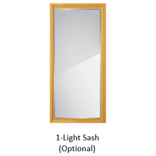 CDC Easy-Change Glass Sash, Insert Only, for 1-Light Wood Combination Door, Fits 30 in. x 81 in.