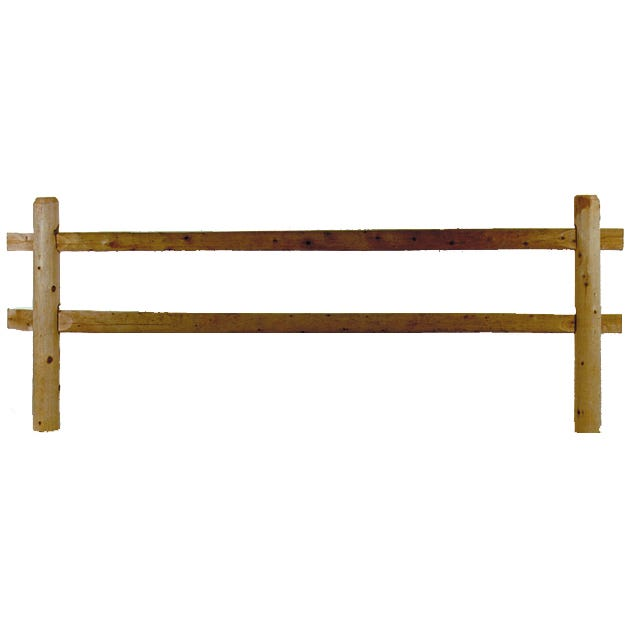 Cedar Full Round 10' Section 2 Hole Split Rail Fencing Package