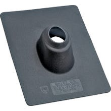 Image 2 of Hercules Flex Flash, No-Calk 14012 Roof Flashing, 2 in, Plastic, Black, 9 x 11 in