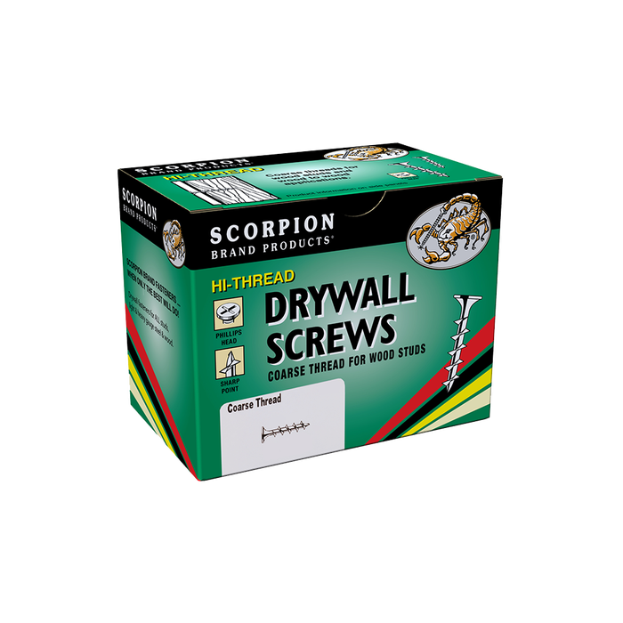 Image 1 of Scorpion #6 x 2 in. Phillips Bugle Head Interior Drywall Screw 500 Count