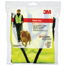 Image 2 of 3M TEKK Protection 94601-80030T Reflective Safety Vest, One-Size, Fabric, Fluorescent Yellow