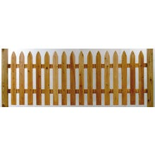 Cedar Gothic Picket Fence, 3' x 8' Section
