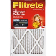 Image 1 of Filtrete 9801DC-6 Allergen Reduction Micro Air Filter, 25 in L, 16 in W, 11 MERV, Pleated Fabric Filter Media
