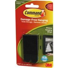 Image 2 of Command 17201BLK Picture Hanging Strip, 3 lb/set Weight Capacity, Foam