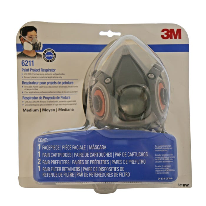 EASI-CARE PAINT SPRAY/PESTICIDE RESPIRATOR ASSEMBLY MED
