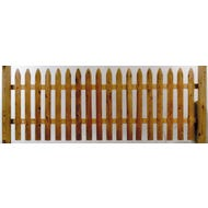 Cedar Milled Picket Fence, Section, 3 ft. x 8 ft.