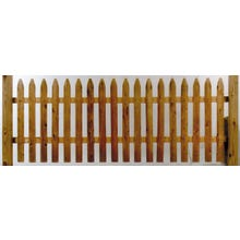 Cedar Milled Picket Fence, 3' x 8' Section