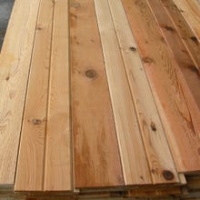 1 x 6  #3 Knotty V-Joint Tongue & Groove Red Cedar Wood Siding, Lineal Footage