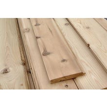#3 Knotty Red Cedar V-Joint Tongue & Groove Siding